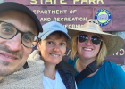 Jana Bounds (right) met Sabine Klein (center) and her husband Martin Wedl at Joshua Tree National Park.