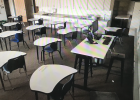Classroom set up to comply with CDC social distancing guidelines. PHOTO BY CARLY WILSON