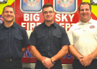 (L to R) Firefighters Shane Farmer, Taylor Lee, and Deputy Chief Dustin Tetrault are easing into their new positions at the Big Sky Fire Department.